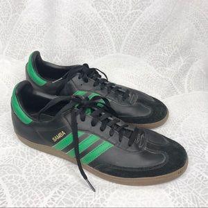 Adidas | Samba black and green sneaker leather